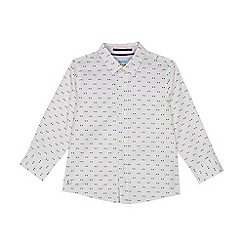 Baker by Ted Baker - Boys' White Geometric Print Long Sleeve Shirt