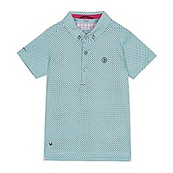 Baker by Ted Baker - Boys' Aqua Geometric Cotton Polo Shirt