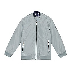 Baker by Ted Baker - Boys' Grey Perforated Bomber Jacket