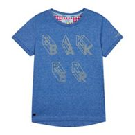eff1db28624f7c Baker by Ted Baker - Boys  Blue Logo Print T-shirt