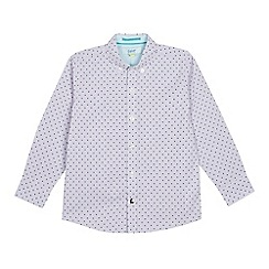 Baker by Ted Baker - Boys' Lilac Geometric Print Long Sleeve Shirt