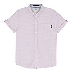 Baker by Ted Baker - Boys' Light Pink Geometric Dot Short Sleeve Shirt