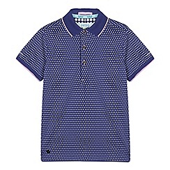 Baker by Ted Baker - Boys' Purple Dot Print Polo Shirt