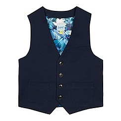 Baker by Ted Baker - Navy Floral Lined Waistcoat
