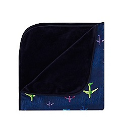 Baker by Ted Baker - Baby Boy' Navy Aeroplane Print Blanket