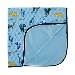 Baker by Ted Baker - Baby Boys' Light Blue Safari Print Blanket