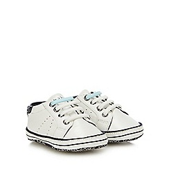 Baker by Ted Baker - Baby Boys' White Logo Print Booties