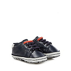 Baker by Ted Baker - Baby Boys' Navy Logo Print Booties