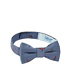 Baker by Ted Baker - Boys' blue parrot embroidered bow tie