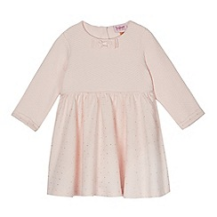 Baker by Ted Baker - Baby girls' light pink quilted spot print jersey dress