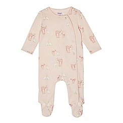 Baker by Ted Baker - Baby girls' pink deer print sleepsuit
