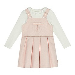 Baker by Ted Baker - Girls' light pink spotted top and dress set