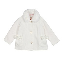 Baker by Ted Baker - Girls' white faux fur collar coat