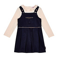 Baker by Ted Baker - Girls' light pink top and velvet dress set