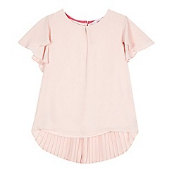 Baker by Ted Baker - Girls' light pink pleated back top