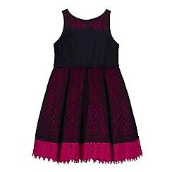 Baker by Ted Baker - Girls' navy lace underlay dress