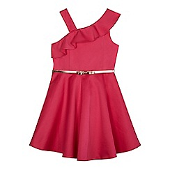 Baker by Ted Baker - Girls' pink asymmetric neck dress