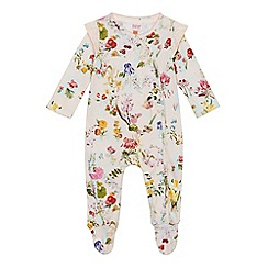 Baker by Ted Baker - Baby girls' light pink floral print sleepsuit