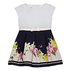 Baker by Ted Baker - Baby girls' navy floral print mock dress