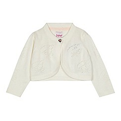 Baker by Ted Baker - Baby girls' off white cropped cardigan