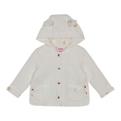 Baker By Ted Baker   Baby Girls' White Quilted Hooded Jacket by Baker By Ted Baker