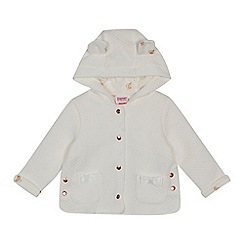 Baker by Ted Baker - Baby girls' white quilted hooded jacket