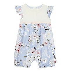 Baker by Ted Baker - Baby girls' light blue floral print romper suit