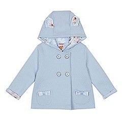 Baker by Ted Baker - Baby girls' light blue quilted hooded jacket