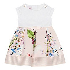 Baker by Ted Baker - 'Baby girls' light pink floral print mock dress