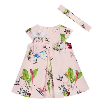 Baker By Ted Baker   Baby Girls' Pink Floral Print 'oasis' Dress And Headband Set by Baker By Ted Baker