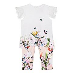 Baker by Ted Baker - 'Baby girls' white printed t-shirt and leggings set
