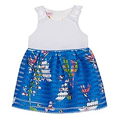 Baker by Ted Baker - 'Baby girls' bright blue floral print dress