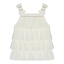 Baker by Ted Baker - 'Baby girls' white pleated layered dress