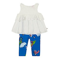 Baker by Ted Baker - 'Baby girls' white floral print top and leggings
