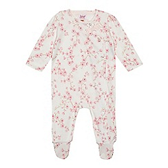 Baker by Ted Baker - Baby girls' white floral print sleepsuit