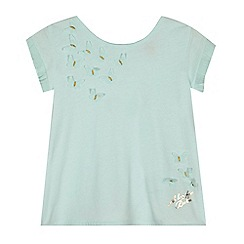 Baker by Ted Baker - Girls' light blue butterfly applique top