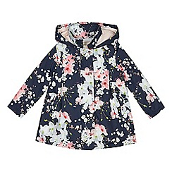Baker by Ted Baker - 'Girls' navy floral print shower resistant jacket