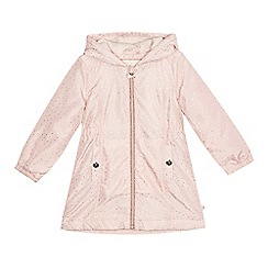Baker by Ted Baker - 'Girls' light pink foil-effect spotted jacket