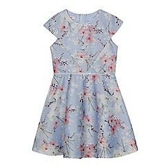 Baker by Ted Baker - Girls' light blue floral textured scuba dress