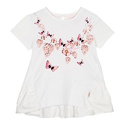 Baker by Ted Baker - 'Girls' white printed short sleeve top
