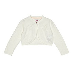 Baker by Ted Baker - Girls' off white cropped cardigan