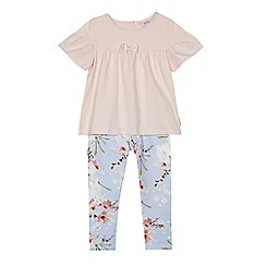 Baker by Ted Baker - Girls' pink top and light blue floral print leggings