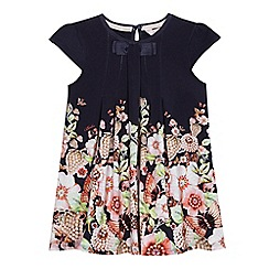 Baker by Ted Baker - Girls' navy floral print swing dress