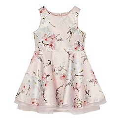 Baker by Ted Baker - 'Girls' light pink satin floral print dress