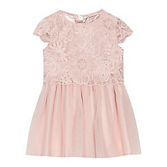 Baker by Ted Baker - 'Girls' pink floral lace dress