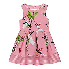 Baker by Ted Baker - 'Girls' pink floral print scuba prom dress