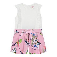 Baker by Ted Baker - 'Girls' white and pink floral print playsuit