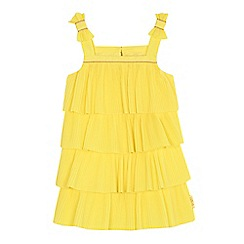Baker by Ted Baker - 'Girls' yellow pleated layered dress