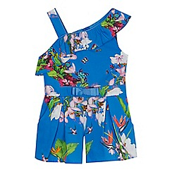 Baker by Ted Baker - 'Girls' blue floral print playsuit