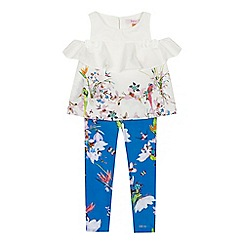 Baker by Ted Baker - Girls' white floral print top and leggings set